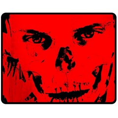 Halloween Face Horror Body Bone Double Sided Fleece Blanket (medium)