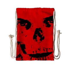 Halloween Face Horror Body Bone Drawstring Bag (small)