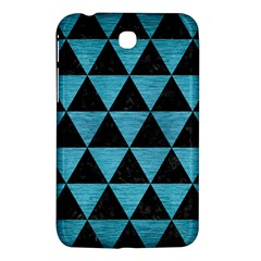 Triangle3 Black Marble & Teal Brushed Metal Samsung Galaxy Tab 3 (7 ) P3200 Hardshell Case