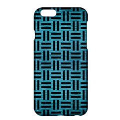 Woven1 Black Marble & Teal Brushed Metal Apple Iphone 6 Plus/6s Plus Hardshell Case