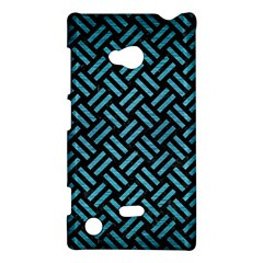 Woven2 Black Marble & Teal Brushed Metal (r) Nokia Lumia 720