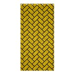 BRICK2 BLACK MARBLE & YELLOW DENIM Shower Curtain 36  x 72  (Stall)  33.26 x66.24 Curtain