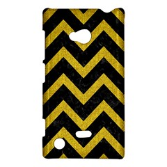 Chevron9 Black Marble & Yellow Denim (r) Nokia Lumia 720