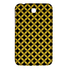 Circles3 Black Marble & Yellow Denim (r) Samsung Galaxy Tab 3 (7 ) P3200 Hardshell Case