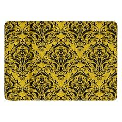 Damask1 Black Marble & Yellow Denim Samsung Galaxy Tab 8 9  P7300 Flip Case