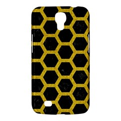 Hexagon2 Black Marble & Yellow Denim (r) Samsung Galaxy Mega 6 3  I9200 Hardshell Case