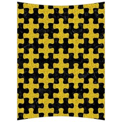 Puzzle1 Black Marble & Yellow Denim Back Support Cushion