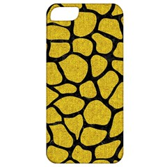 Skin1 Black Marble & Yellow Denim (r) Apple Iphone 5 Classic Hardshell Case