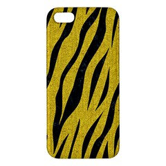 Skin3 Black Marble & Yellow Denim Iphone 5s/ Se Premium Hardshell Case
