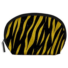 Skin3 Black Marble & Yellow Denim (r) Accessory Pouches (large)