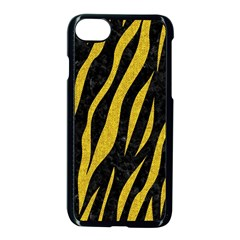 Skin3 Black Marble & Yellow Denim (r) Apple Iphone 8 Seamless Case (black)