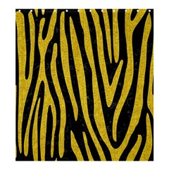 Skin4 Black Marble & Yellow Denim Shower Curtain 66  X 72  (large)