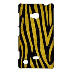 Skin4 Black Marble & Yellow Denim Nokia Lumia 720