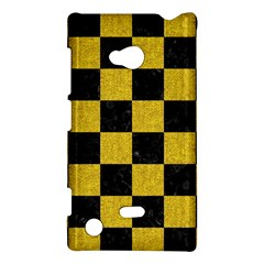 Square1 Black Marble & Yellow Denim Nokia Lumia 720