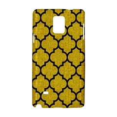 Tile1 Black Marble & Yellow Denim Samsung Galaxy Note 4 Hardshell Case
