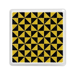 Triangle1 Black Marble & Yellow Denim Memory Card Reader (square)