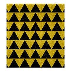 Triangle2 Black Marble & Yellow Denim Shower Curtain 66  X 72  (large)