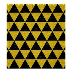 Triangle3 Black Marble & Yellow Denim Shower Curtain 66  X 72  (large)