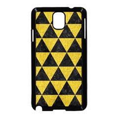 Triangle3 Black Marble & Yellow Denim Samsung Galaxy Note 3 Neo Hardshell Case (black)