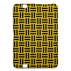 Woven1 Black Marble & Yellow Denim Kindle Fire Hd 8 9