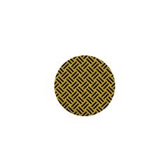 Woven2 Black Marble & Yellow Denim 1  Mini Buttons
