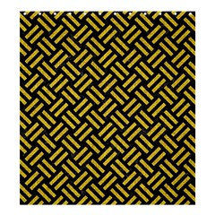 Woven2 Black Marble & Yellow Denim (r) Shower Curtain 66  X 72  (large)