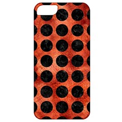 Circles1 Black Marble & Copper Paint Apple Iphone 5 Classic Hardshell Case