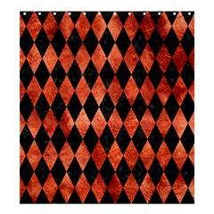 Diamond1 Black Marble & Copper Paint Shower Curtain 66  X 72  (large)