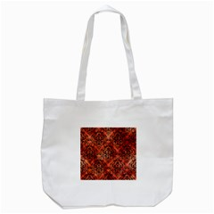 Damask1 Black Marble & Copper Paint Tote Bag (white)