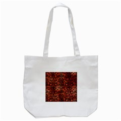 Damask2 Black Marble & Copper Paint Tote Bag (white)