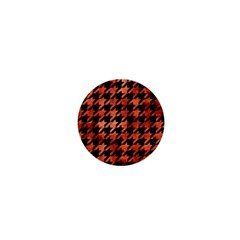 Houndstooth1 Black Marble & Copper Paint 1  Mini Buttons