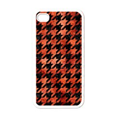 Houndstooth1 Black Marble & Copper Paint Apple Iphone 4 Case (white)