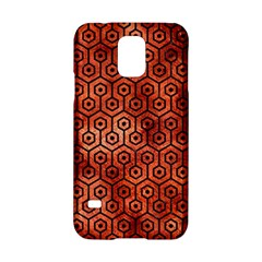 Hexagon1 Black Marble & Copper Paint Samsung Galaxy S5 Hardshell Case