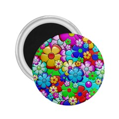 Flowers Ornament Decoration 2 25  Magnets