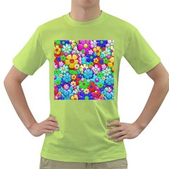 Flowers Ornament Decoration Green T Shirt