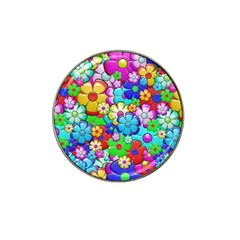 Flowers Ornament Decoration Hat Clip Ball Marker (4 Pack)