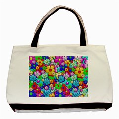 Flowers Ornament Decoration Basic Tote Bag (two Sides)
