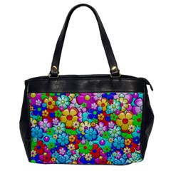 Flowers Ornament Decoration Office Handbags