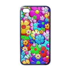 Flowers Ornament Decoration Apple Iphone 4 Case (black)