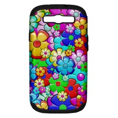 Flowers Ornament Decoration Samsung Galaxy S Iii Hardshell Case (pc+silicone)