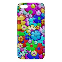 Flowers Ornament Decoration Apple Iphone 5 Premium Hardshell Case