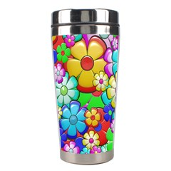 Flowers Ornament Decoration Stainless Steel Travel Tumblers