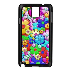 Flowers Ornament Decoration Samsung Galaxy Note 3 N9005 Case (black)