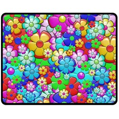 Flowers Ornament Decoration Double Sided Fleece Blanket (medium)