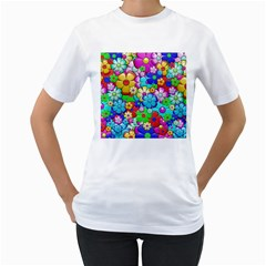 Flowers Ornament Decoration Women s T Shirt (white)