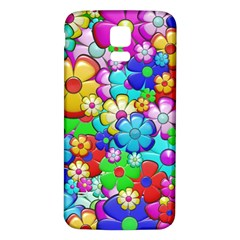 Flowers Ornament Decoration Samsung Galaxy S5 Back Case (white)