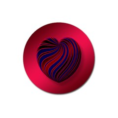 Heart Love Luck Abstract Magnet 3  (round)