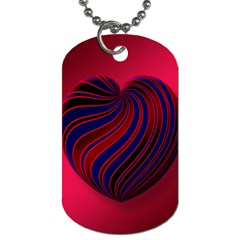 Heart Love Luck Abstract Dog Tag (two Sides)