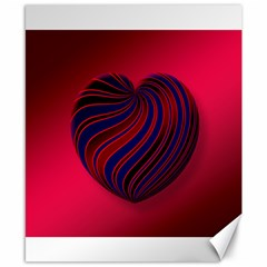 Heart Love Luck Abstract Canvas 8  X 10