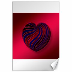 Heart Love Luck Abstract Canvas 20  X 30